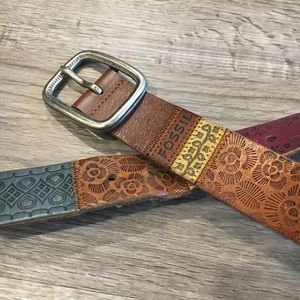 Fossil Leather Belt!
